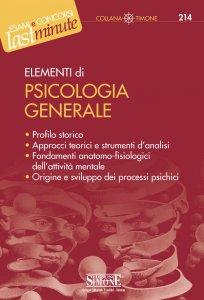 Copertina di 'Elementi di Psicologia generale'