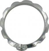 Immagine di 'Rosario anello con croce incisa in argento misura 13'