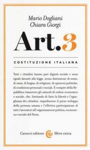 Copertina di 'Costituzione italiana: Articolo 3'