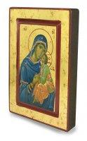 Immagine di 'Icona Madonna della Tenerezza, produzione greca su legno - 20 x 14 cm'