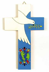 """Copertina di 'Croce """"Colomba della Pace"""" - altezza 12 cm'"""