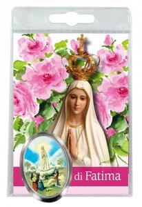 Copertina di 'Calamita Madonna di Fatima in metallo nichelato con preghiera in italiano'