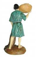 Immagine di 'Pescatore con rete e cesta Linea Martino Landi - presepe da 12 cm'