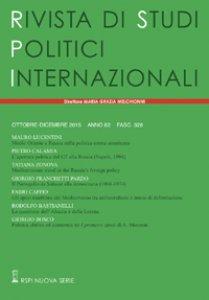 Copertina di 'Rivista di studi politici internazionali (2015) vol.4'