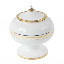 Copertina di 'Lucerna in ceramica a palla con piede - 14 cm'