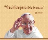 """Mousepad con immagine di Papa Francesco """"Non abbiate paura della tenerezza"""" - Papa Francesco"""