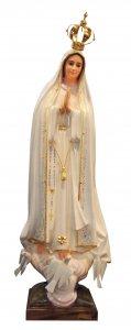 Copertina di 'Statua Madonna di Fatima dipinta a mano con occhi di cristallo e strass (circa 105 cm)'