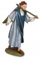 Pastore con legna per presepe cm 12 - Linea Martino Landi