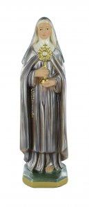 Copertina di 'Statua Santa Chiara in gesso madreperlato dipinta a mano - 30 cm'