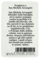 Immagine di 'Card San Michele Arcangelo in PVC - misura 5,5 x 8,5 cm - italiano'