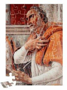 """Copertina di 'Puzzle """"Sant'Agostino nello studio"""" (48 pezzi)'"""