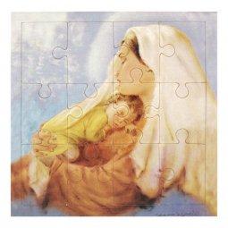 """Copertina di 'Mini puzzle """"Madonna col Bambino"""" stile fotografico - 12 pezzi'"""