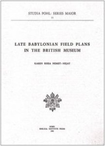 Copertina di 'Late babylonian field plans in the British Museum'