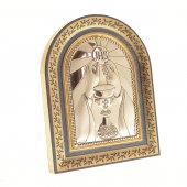 Immagine di 'Iconcina a cappella in foglia oro - JHS'
