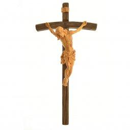 Copertina di 'Croce artigianale in legno scuro con corpo in legno chiaro'