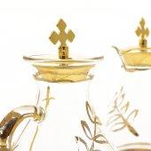 Immagine di 'Servizio ampolline in vetro con foglia d'oro 100 cc'