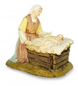 Copertina di 'Gruppo Madonna inginocchiata con Gesù Bambino Linea Martino Landi - presepe da 12 cm'