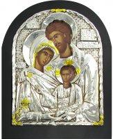 Icona Sacra Famiglia con riza - cm 18x15