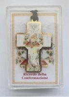 """Scatolina con croce in legno """"Santa Cresima"""" - cm 3,5x5"""