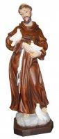 Statua San Francesco in resina dipinta a mano - 60 cm