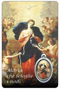 Copertina di 'Card Maria che scioglie i nodi con medaglia - 5,5 x 8,5 cm'