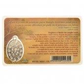 Immagine di 'Card medaglia Maria che scioglie i nodi (10 pezzi)'