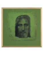 """Quadro in legno e tela """"Volto della Sindone"""" -  dimensioni 25x25 cm"""