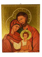 Tavola sacra famiglia dorata