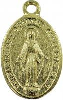 Immagine di 'Medaglia Madonna Miracolosa doppia in metallo dorato e resina - 2,5 cm'