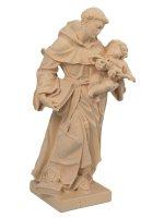 """Immagine di 'Statua in legno naturale """"Sant'Antonio di Padova"""" - altezza 21 cm'"""