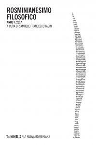 Copertina di 'Rosminianesimo filosofico. Anno I (2017)'