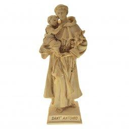 """Copertina di 'Statua sacra in resina patinata con base """"Sant'Antonio di Padova"""" - altezza 21 cm'"""