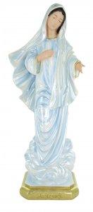 Copertina di 'Statua Madonna di Medjugorje in gesso madreperlato dipinta a mano - 40 cm'