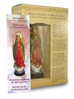 Immagine di 'Statua della Madonna di Guadalupe da 12 cm in confezione regalo con segnalibro in IT/EN/ES/FR'