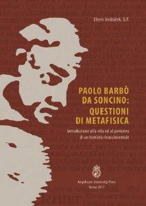 Copertina di 'Paolo Barbò da Soncino: Questioni di Metafisica'