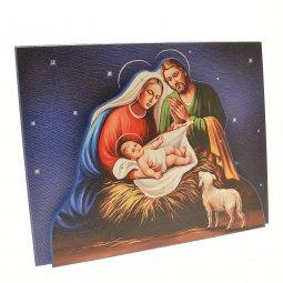 """Copertina di 'Icona in rilievo con Swarowski """"Natività"""" - dimensioni 25x20 cm'"""