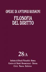 Copertina di 'Filosofia del diritto - Vol. 28/A'