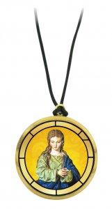 Copertina di 'Ciondolo Madonna della Cattedrale di Granada in legno ulivo con immagine serigrafata - 3,5 cm'
