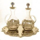 Servizio ampolline Venezia in vetro soffiato con pietre preziose