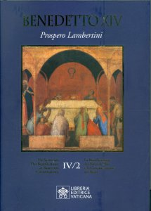 Copertina di 'Benedetto XIV - Prospero Lambertini. Vol. IV/2'
