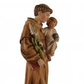"""Immagine di 'Statua sacra in legno colorato """"Sant'Antonio di Padova"""" - altezza 60 cm'"""