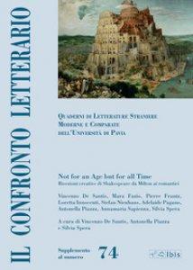 Copertina di 'Il confronto letterario. Quaderni di letterature straniere moderne e comparate dell'Università di Pavia. Supplemento'