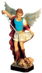 Copertina di 'Statua da esterno San Michele Arcangelo in materiale infrangibile dipinta a mano cm 30'