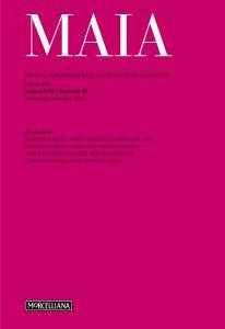 Copertina di 'Maia. 3/2015:: Rivista quadrimestrale di letterature classiche.'