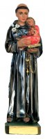 Statua Sant'Antonio in gesso madreperlato dipinta a mano - cm 20 di  su LibreriadelSanto.it