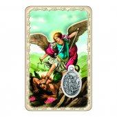 """Card """"San Michele"""" con preghiera e medaglia - (10 pezzi)"""