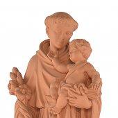 """Immagine di 'Statua sacra in resina ad effetto terracotta """"Sant'Antonio di Padova"""" - altezza 80 cm'"""