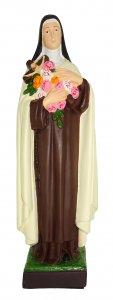 Copertina di 'Statua da esterno Santa Teresa in materiale infrangibile dipinta a mano cm 40'