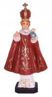 Statua da esterno di Gesù Bambino di Praga in materiale infrangibile, dipinta a mano, da circa 16 cm