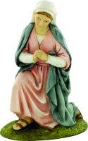 Madonna genuflessa per presepe cm 10 - Linea Martino Landi di  su LibreriadelSanto.it